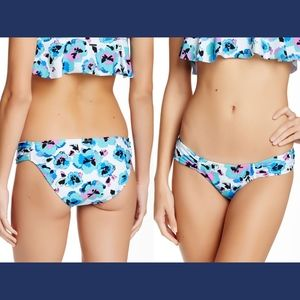 NWT Volcom Floral Junkie Full Bottom XS Blue Bird
